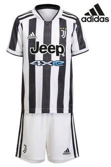 adidas Juventus 21/22 Home Mini Football Kit