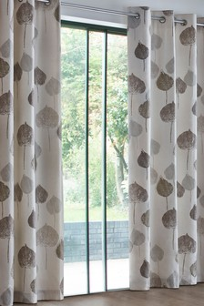 Tranquil Leaf Eyelet Curtains