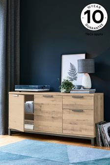Bronx Oak Effect Large Sideboard with Drawers