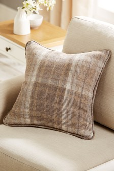 Burford Check Square Cushion