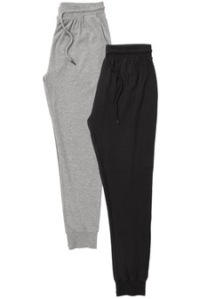 Jersey Cuffed Long Bottoms Two Pack