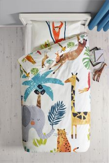 Jungle Duvet Cover and Pillowcase Set