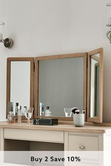 Hampton Country Luxe Oak Dressing Table Mirror