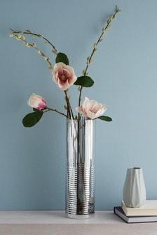 XL Metallic Stripe Vase