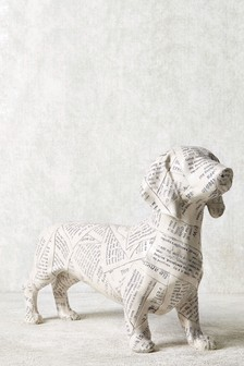 Newspaper Dachshund Sculpture