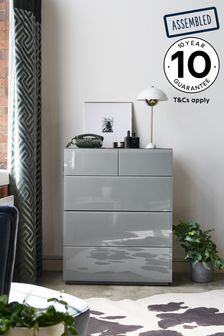 Sloane Glass 5 Drawer Multi Chest