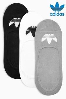 adidas Originals Kids Black No Show Sock Three Pack