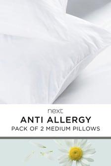 Set of 2 Medium Anti Allergy Pillows