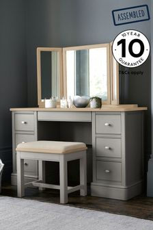 Hampton Country Luxe Painted Oak Storage Dressing Table