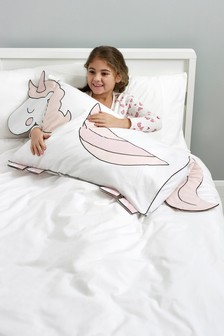 Unicorn Shaped Pillowcase