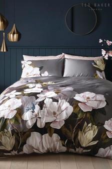 Ted Baker Grey Opal Floral Cotton Duvet Cover