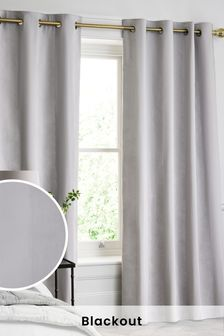 Cotton Waffle Blackout Lined Curtains