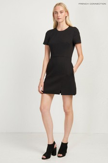 French Connection Black Dixie Shift Dress