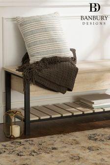 Banbury Designs White Oak 48 Modern Farmhouse Storage Bench