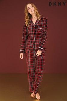 DKNY Fleece Notch Collar Pyjama Set
