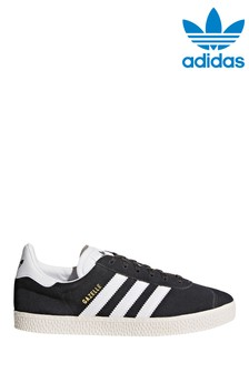 adidas Originals Grey/White Gazelle Youth Trainers