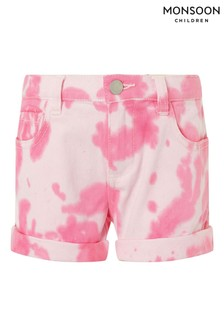Monsoon Pink Tie Dye Denim Shorts