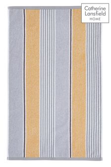 Catherine Lansfield Yellow Textured Stripe Towel