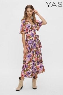 Y.A.S Floral Caleia Wrap Dress