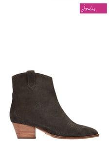 Joules Grey Elmwood Suede Western Boots