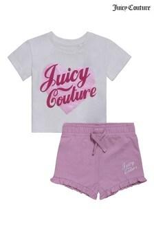 Juicy Couture Heart T-Shirt/Shorts Set