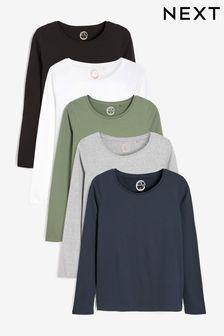 Long Sleeve Tops 5 Pack