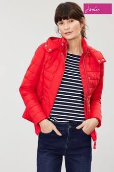 Joules Red Linden Padded Coat