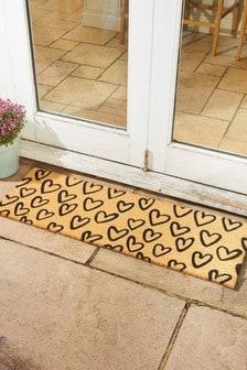 Mud Stopper Extra Wide Hearts Doormat