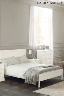 Ashwell Cotton White Bed Frame by Laura Ashley