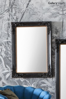 Gallery Direct Ashbourne Antique Black Mirror