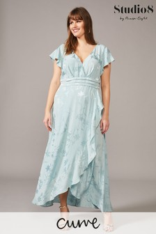 Studio 8 Blue Rosie Jacquard Maxi Dress