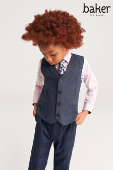 Baker By Ted Baker Older Boys' Waistcoat, Shirt And Tie Set