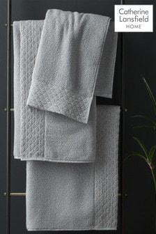 Catherine Lansfield Silver Zero Twist Sparkle Towel