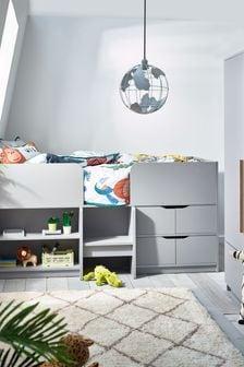 Phoenix Grey Storage Cabin Bed