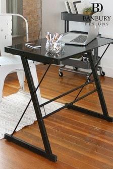 Banbury Designs Black 31 Modern Computer Desk