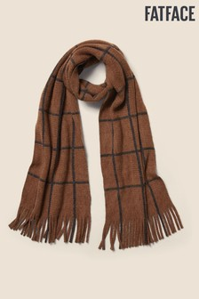 FatFace Natural Brushed Check Scarf