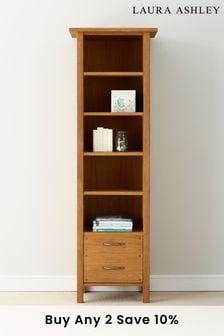 Milton Oak 2 Drawer Single Bookcase by Laura Ashley