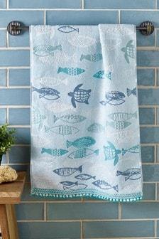 Blue Sea Life Towel