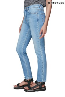 Whistles Light Wash Sculpted Jeans