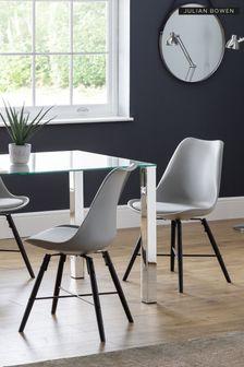 Set of 2 Kari Black Dining Chairs by Julia Bowen