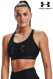 Under Armour Mid Keyhole Graphic Bra