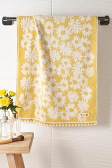 Ochre Floral Bloom Towel