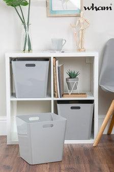 Set of 3 Wham Large Cube Plastic Storage Baskets