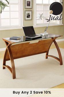 Helsinki 1300 Walnut Laptop Table by Jual