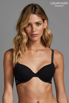 Calvin Klein Black Lightly Lined Demi Bra