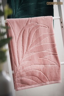 Cosmo Pink Leaf Towel