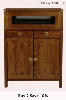 Balmoral Dark Chestnut Drinks Cabinet by Laura Ashley