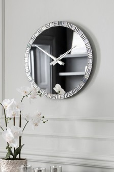 Alexis Mirrored Wall Clock