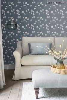Laura Ashley Dusky Seaspray Magnolia Grove Wallpaper