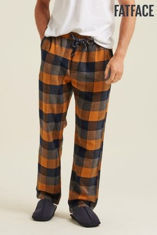 FatFace Yellow Colworth Check Lounge Pants